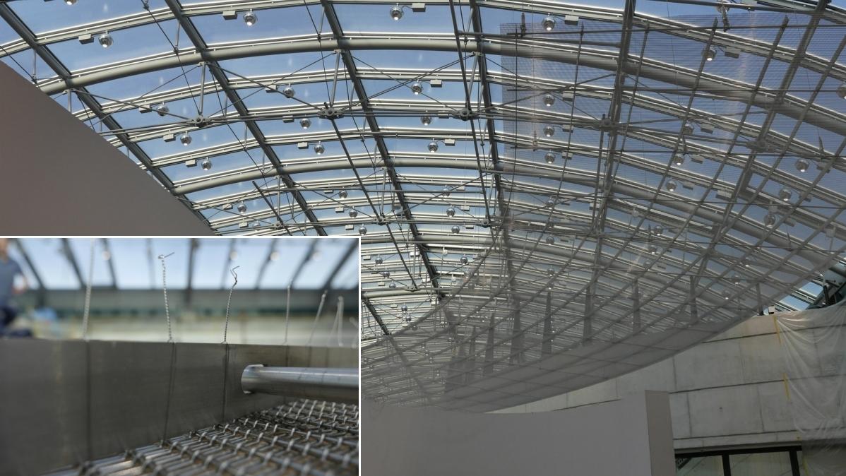 Zwischendach in der Ausstellung.