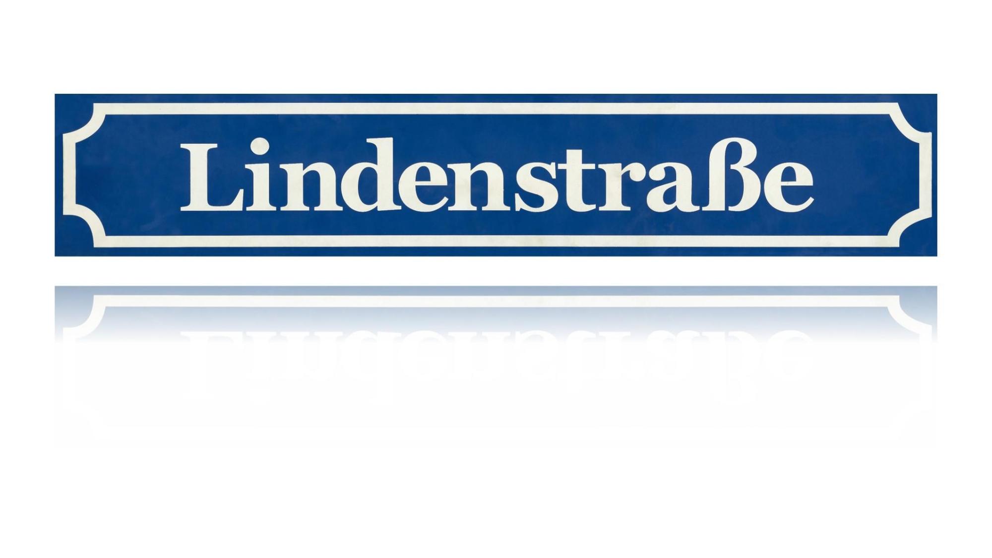 blaues Lindenstraßen-Schild