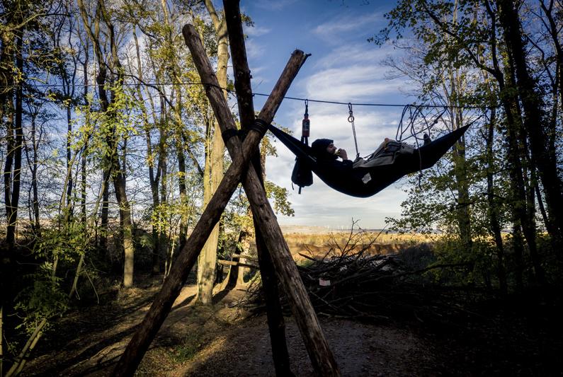 Besetzung des Hambacher Forsts. Bild einer Serie von David Klammer.