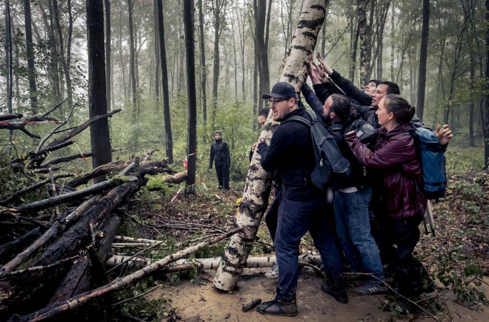 Die beste Serie wurde von David Klammer eingereicht und beschäftigt sich mit Protesten im Hambacher Forst.