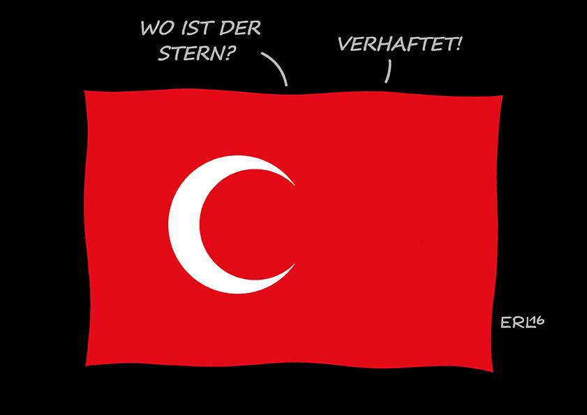 1. Preis Karikatur Rückblende 2016 von Martin Erl