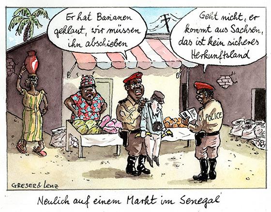 2. Preis Karikatur Rückblende 2016 von Greser und Lenz
