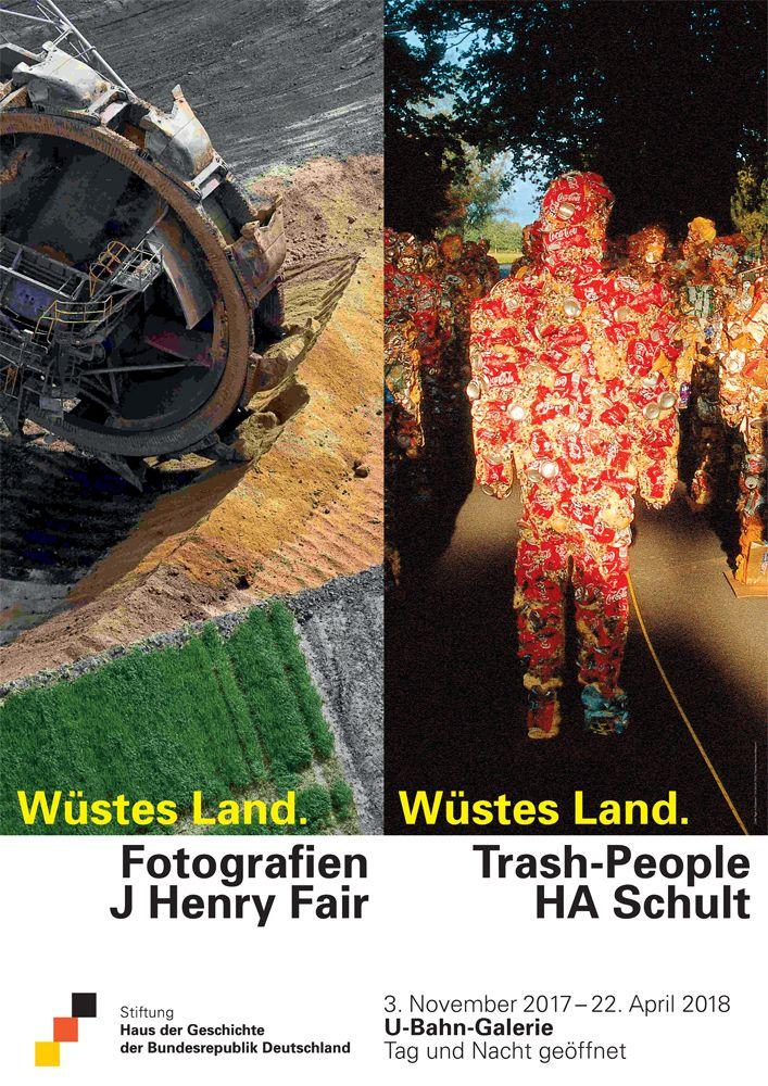 Plakat zur Ausstellung Wüstes Land