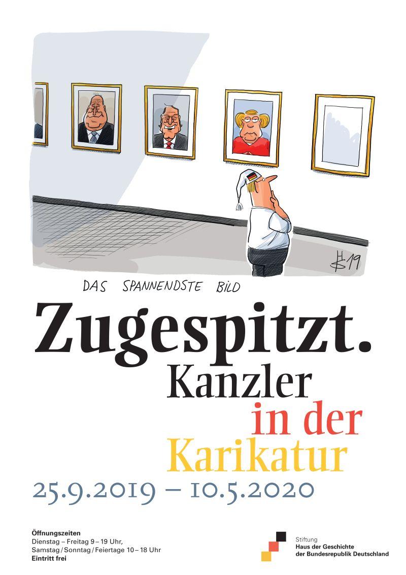 """Ausstellungsplakat """"Zugespitzt"""""""