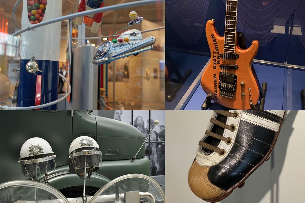 Collage aus Museumsobjekten die in den Videos thematisiert werden