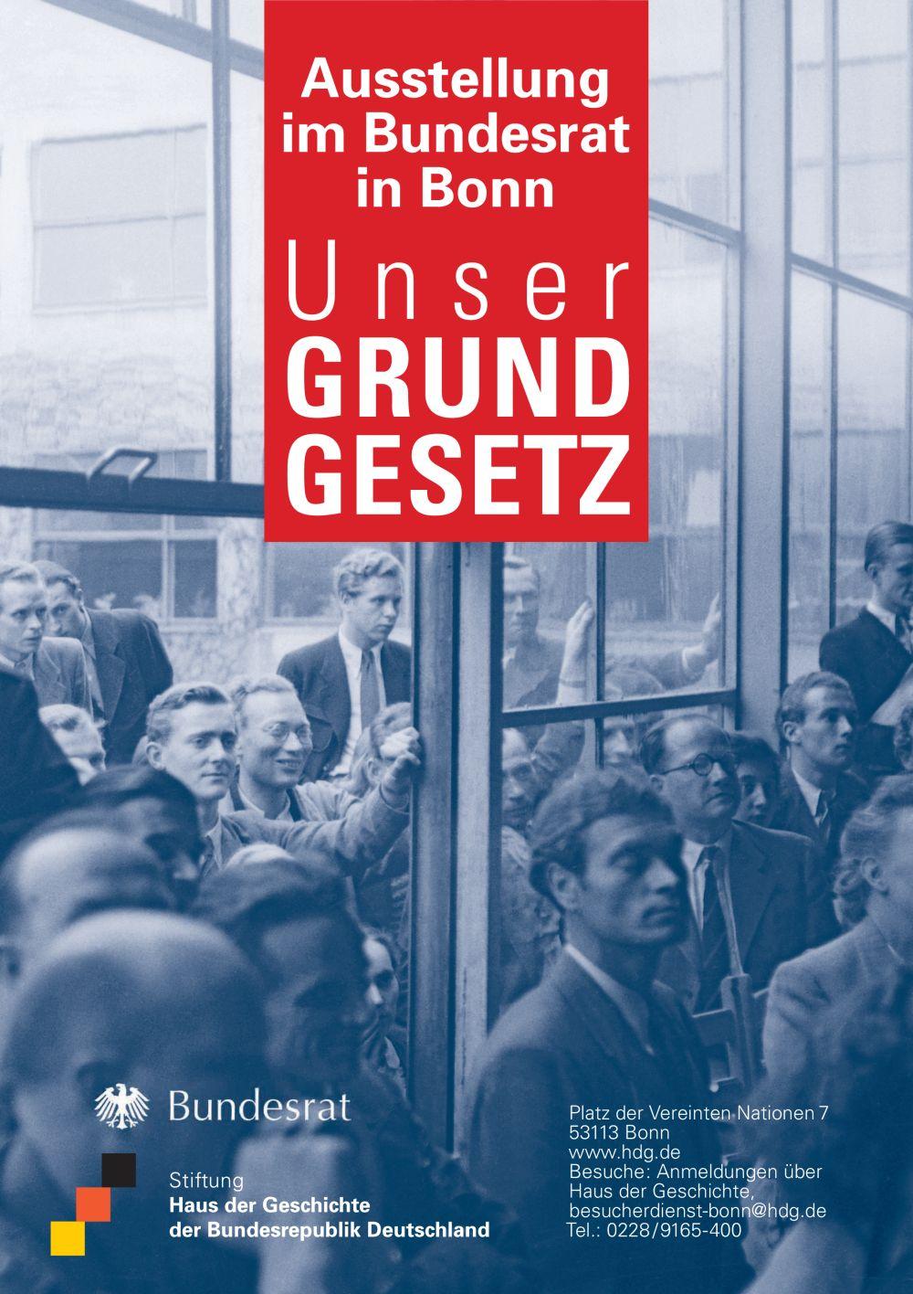 Plakat zur Ausstellung 'Unser Grundgesetz'