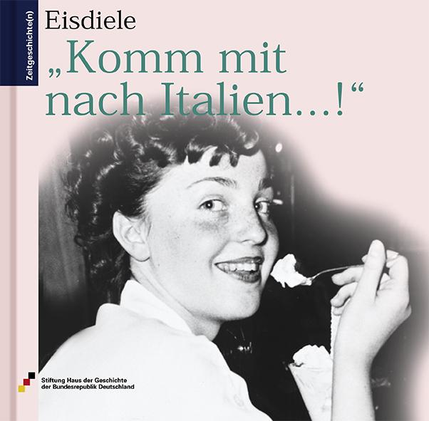 Auf dem Buchcover die Schwarzweiß-Fotografie eines junges Mädchens, das vor einem Eisbecher sitzt und einen Löffel mit Eis zum Mund führt. Sie lächelt in die Kamera