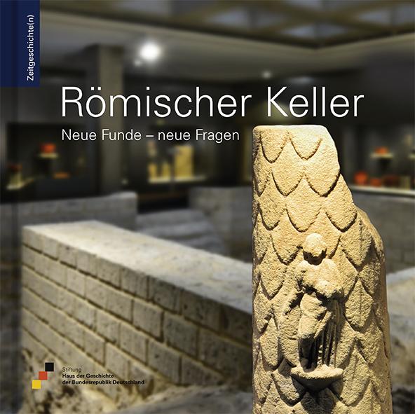 Buch mit einem Ausstellungsraum und den Überresten eines römischen Kellers auf dem Cover