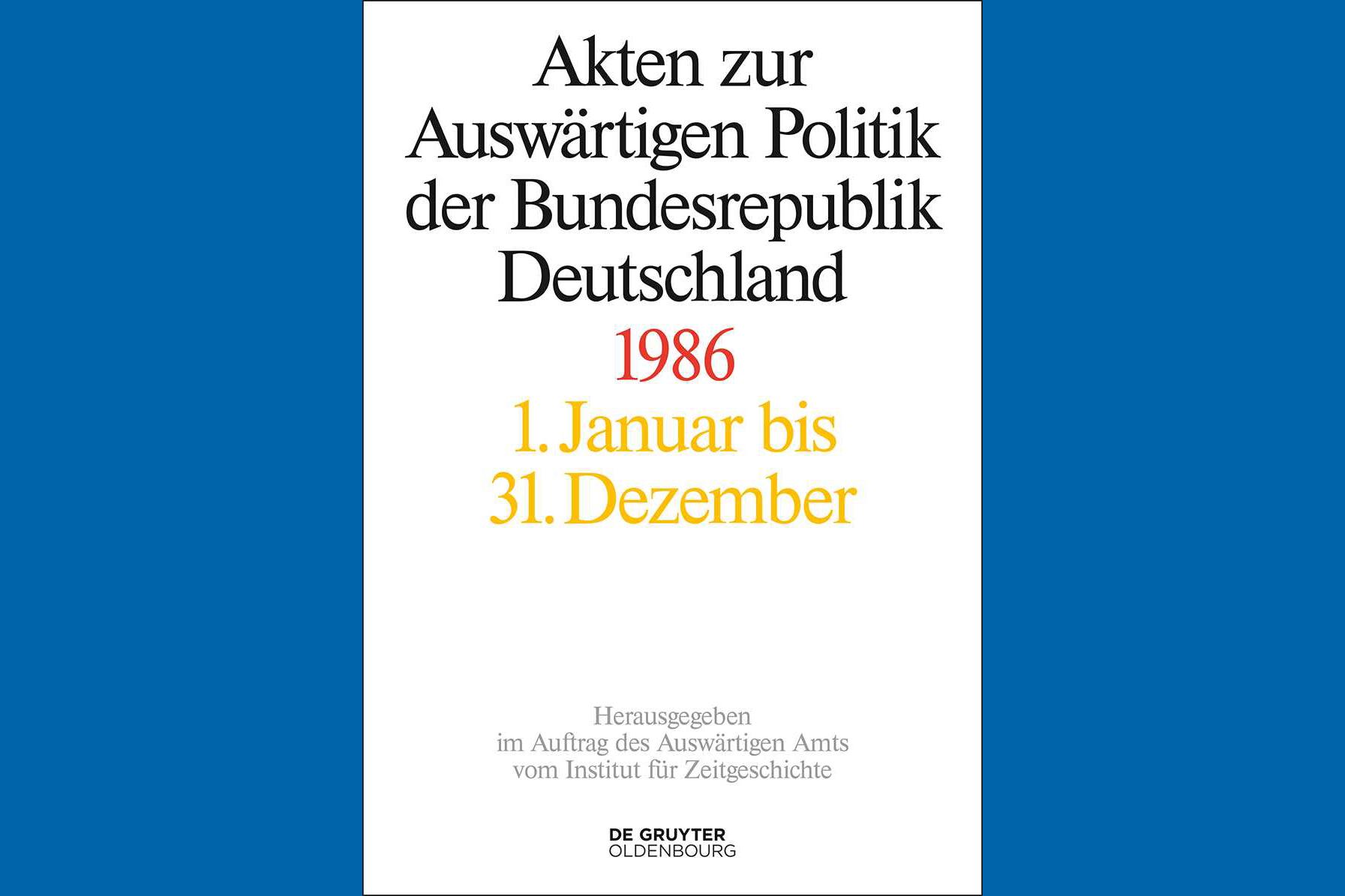 Buchcover Akten zur Auswärtigen Politik der Bundesrepublik Deutschland 1986