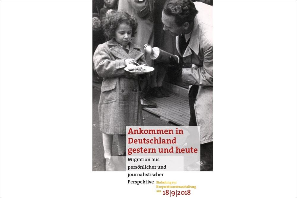 Flyer Ankommen in Deutschland gestern und heute