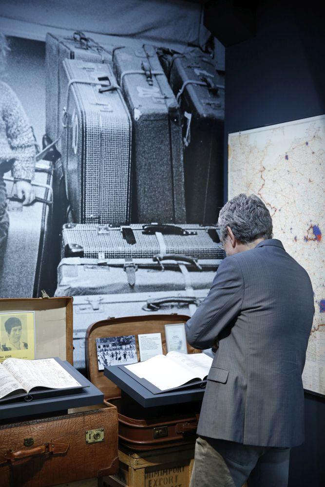 Der Ausstellungsbereich zur Ausreisebewegung in der DDR