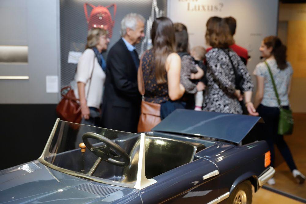 Kinder-Mercedes in der Ausstellung