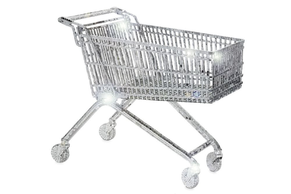 Mirrored Shopping Cart