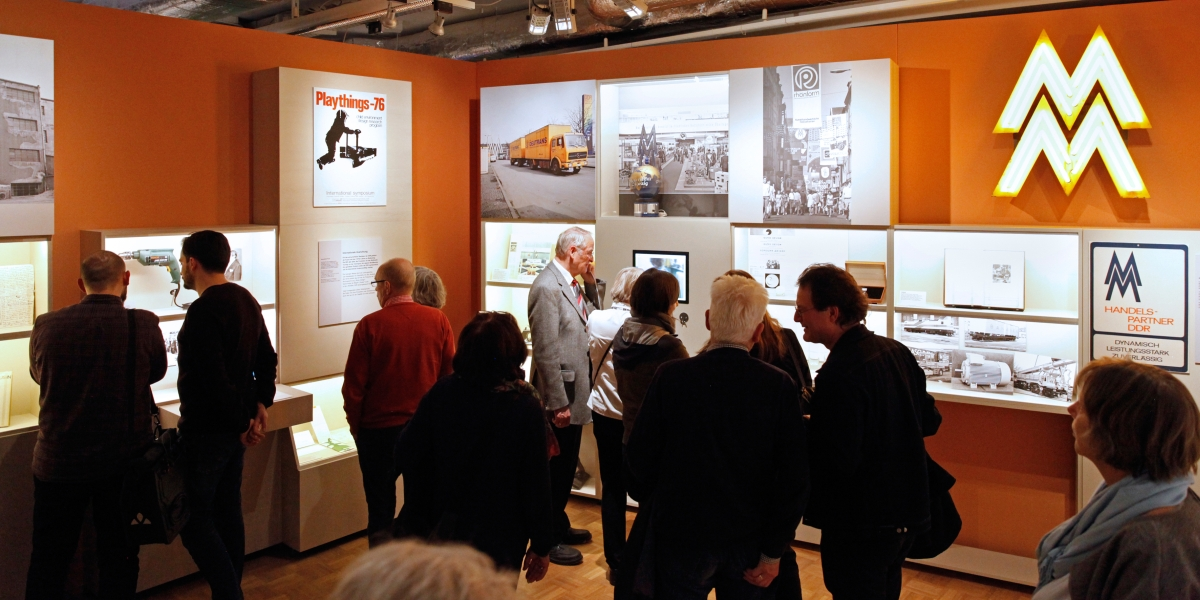 Visitors in the exhibition