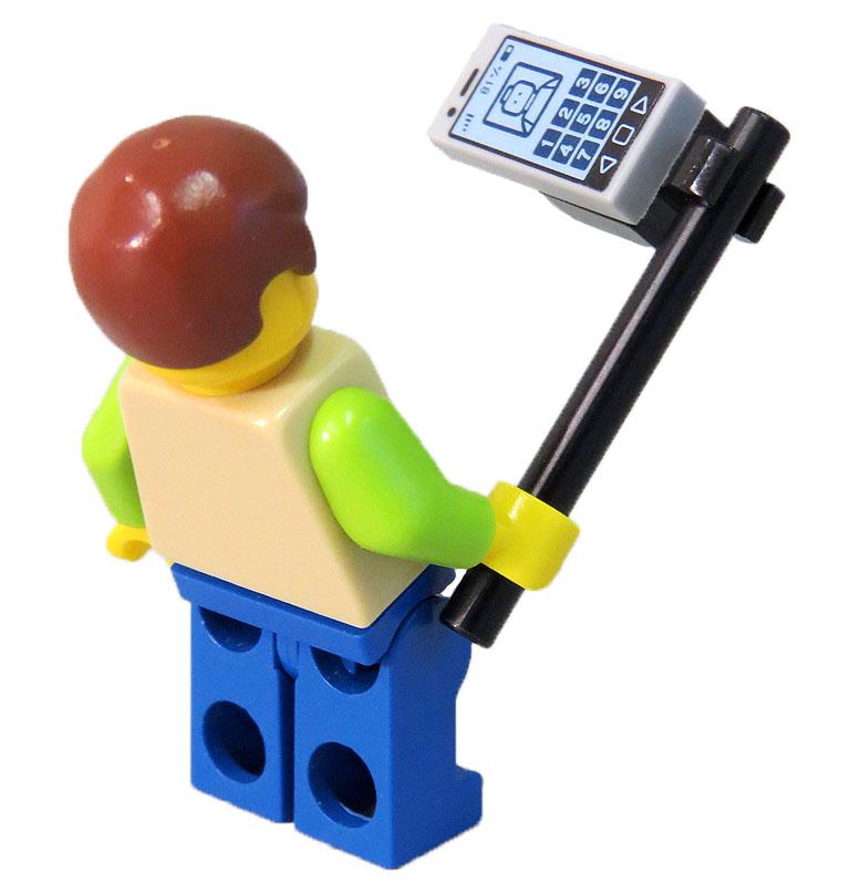 Lego men with selfie stick