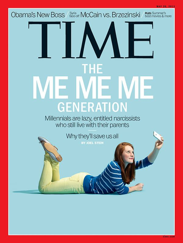 """Time Europe """"The Me Me Me Generation"""", 2013"""