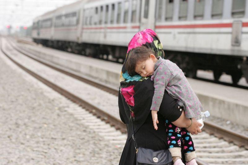 Flucht auf der Balkanroute. 2015