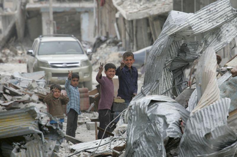 In den Trümmern von Kobane. Syrien 2015