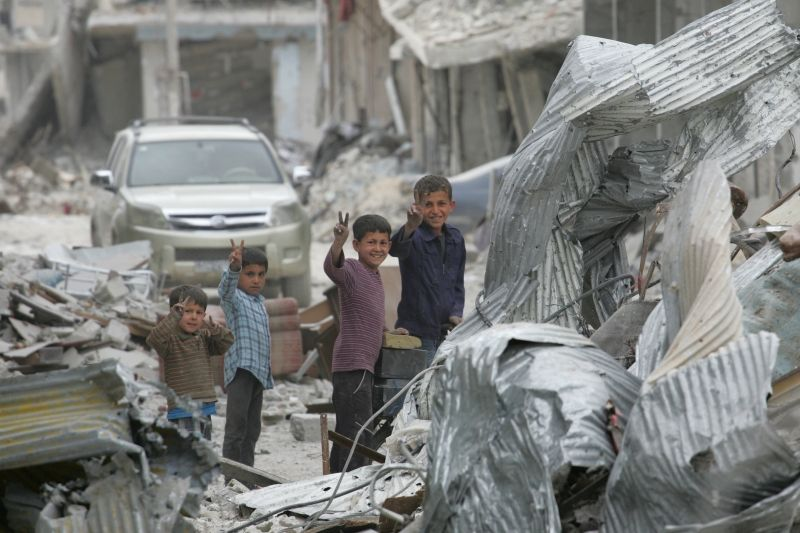 Among the Ruins in Kobane, Syria 2015
