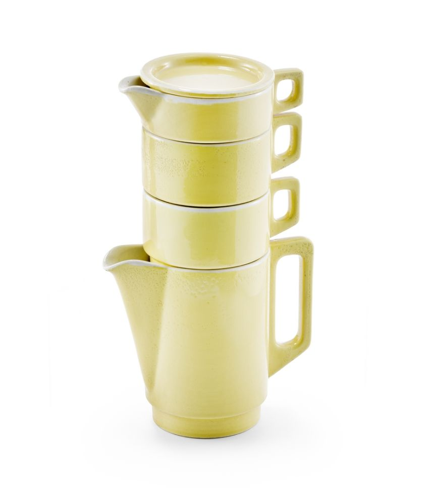 Functional tableware pot yellow, Margarete Jahny and Mart Stam
