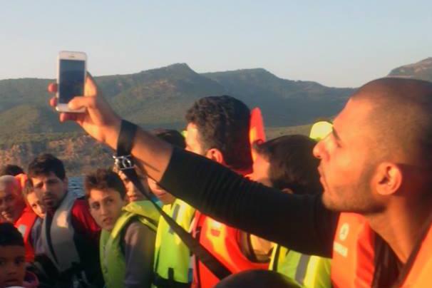 Selfie auf dem Weg von der Türkei nach Griechenland