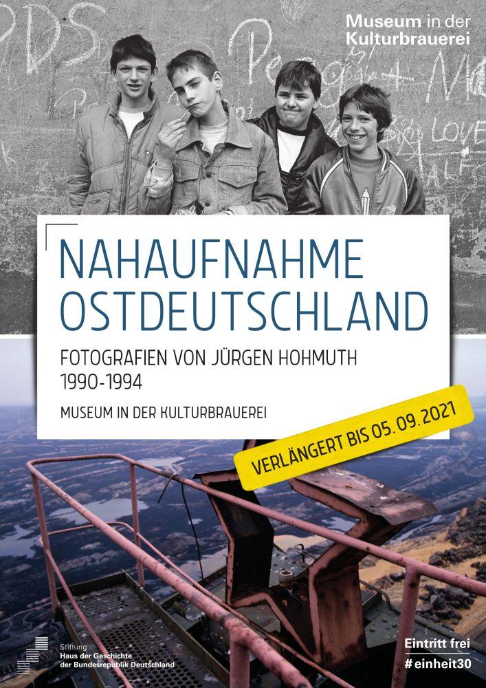 "Plakat zur Fotoausstellung ""Nahaufnahme Ostdeutschland"""