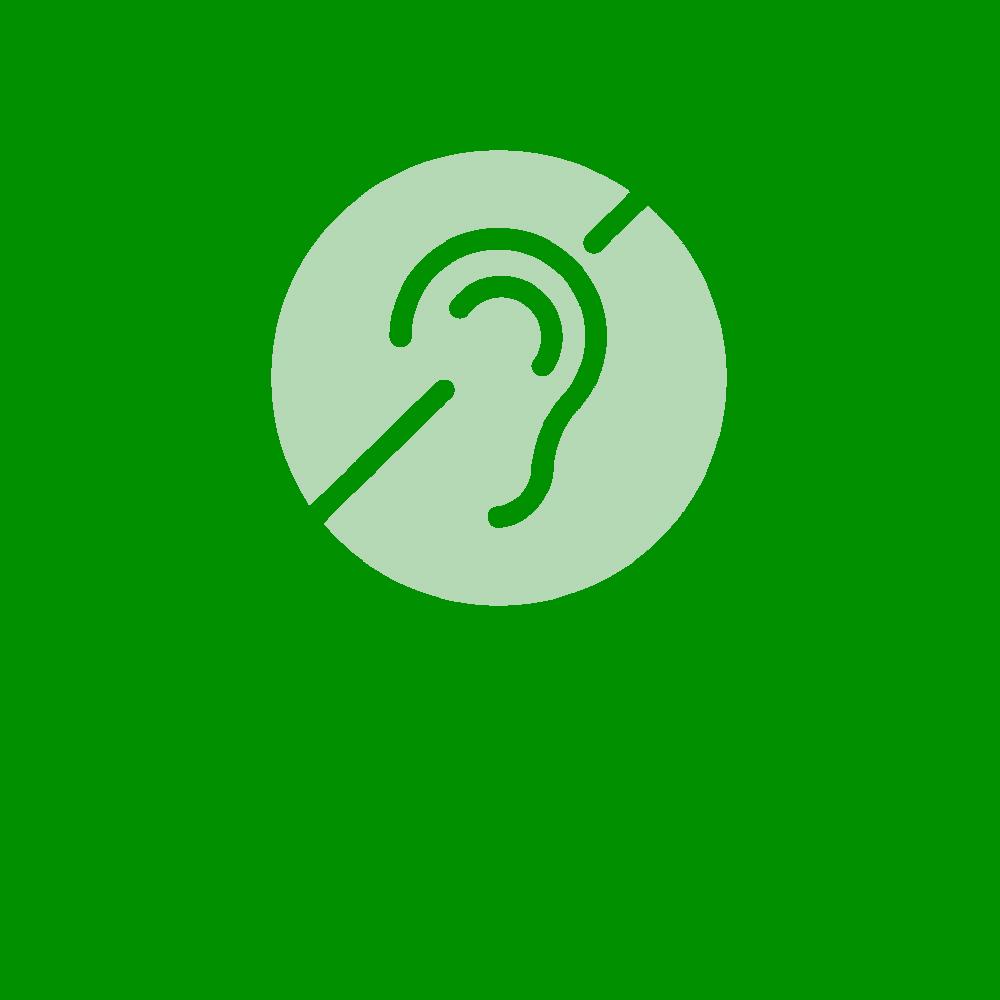 Logo für Hörbeeinträchtigung und Gehörlosigkeit