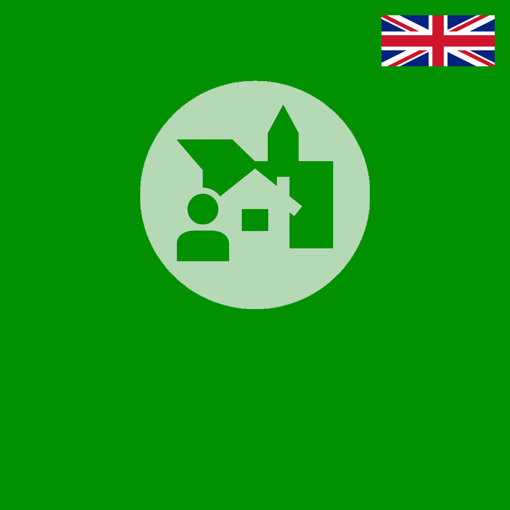 Logo für Kiezspaziergänge in Englisch