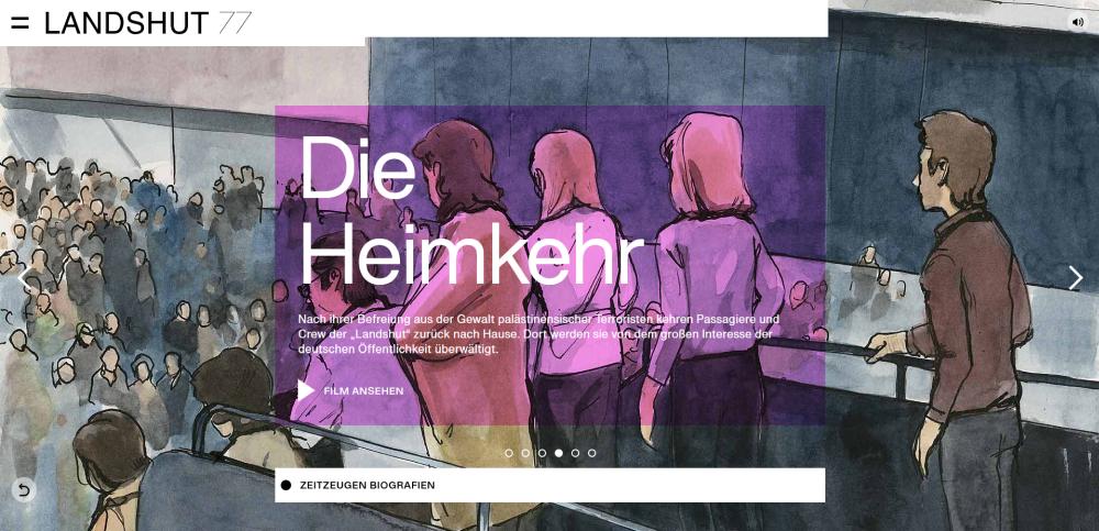 Das Webangebot stellt die Erzählungen der Zeuginnen und Zeitzeugen in den Mittelpunkt. Dabei wird auch ihr Leben nach der Entführung beleuchtet.