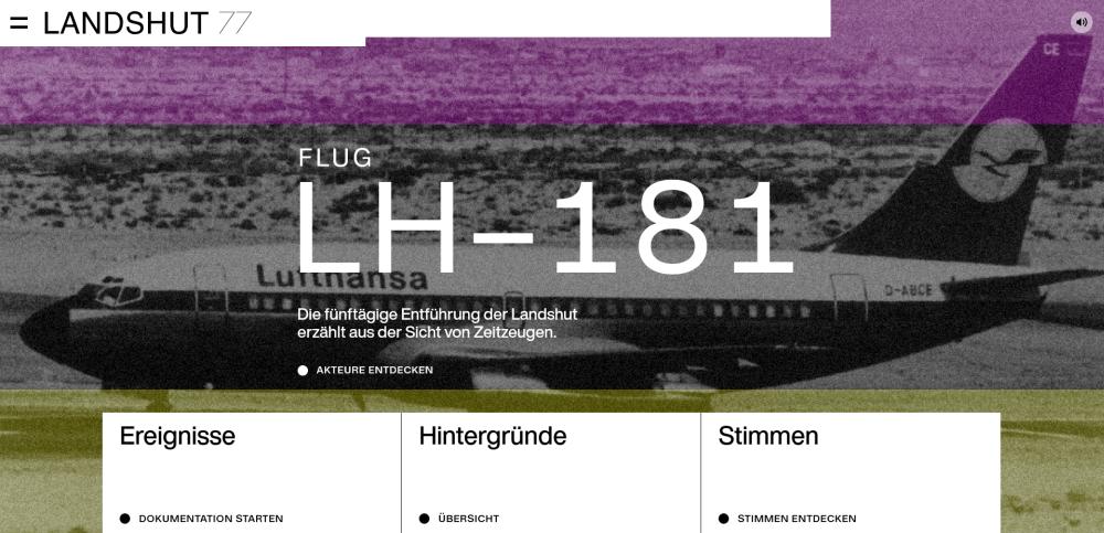 """Startseite des Webangebots """"landshut77.de"""""""