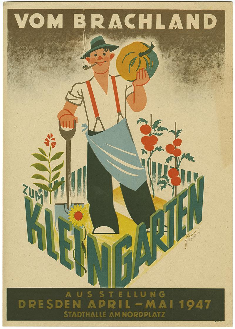 Plakat Vom Brachland zum Kleingarten