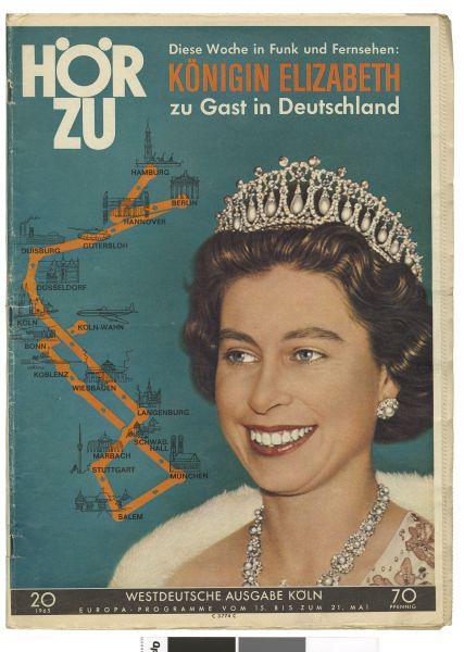 Die Zeitschrift Hör Zu mit einem Bild von Queen Elizabeth II auf dem Cover.
