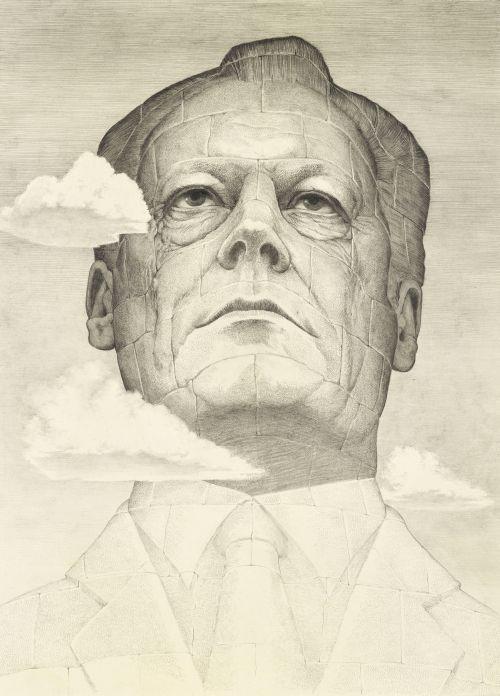 Karikatur Willy Brandt