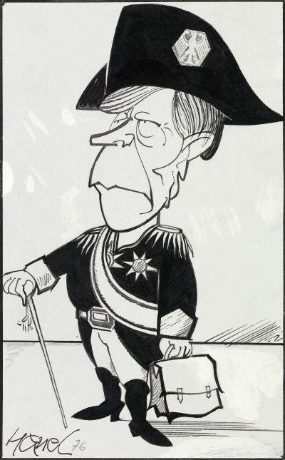 Walter Hanel, Karikatur Helmut Schmidt