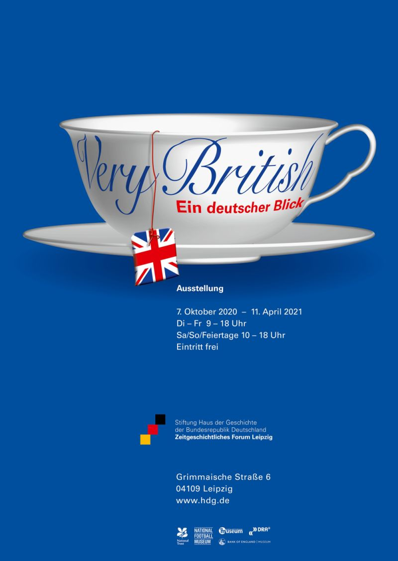 Ausstellungsplakat Very British Zeitgeschichtliches Forum Leipzig