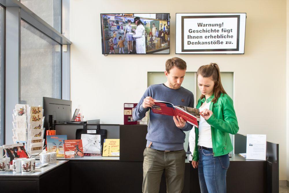 Info Desk at Zeitgeschichtliches Forum Leipzig