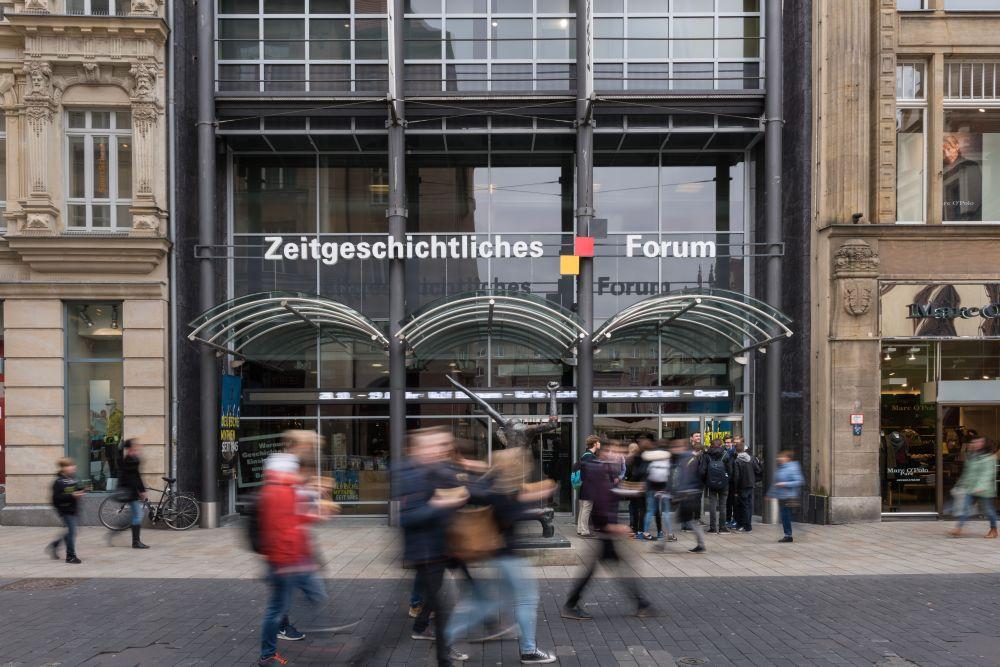 Main entrance to Zeitgeschichtliches Forum Leipzig