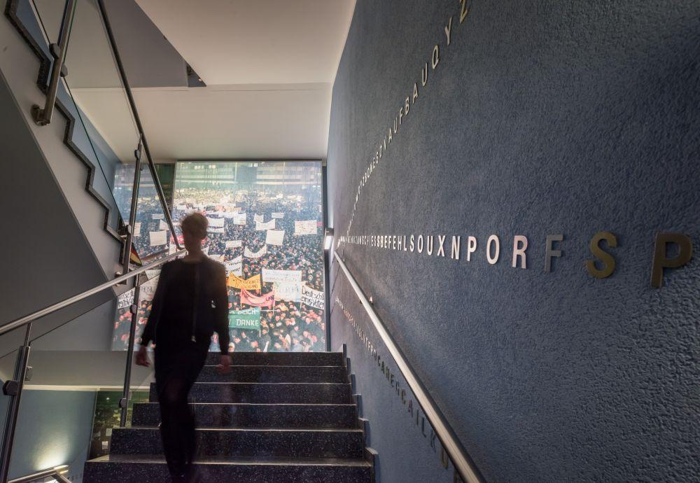 Stairwell in the Zeitgeschichtliches Forum Leipzig