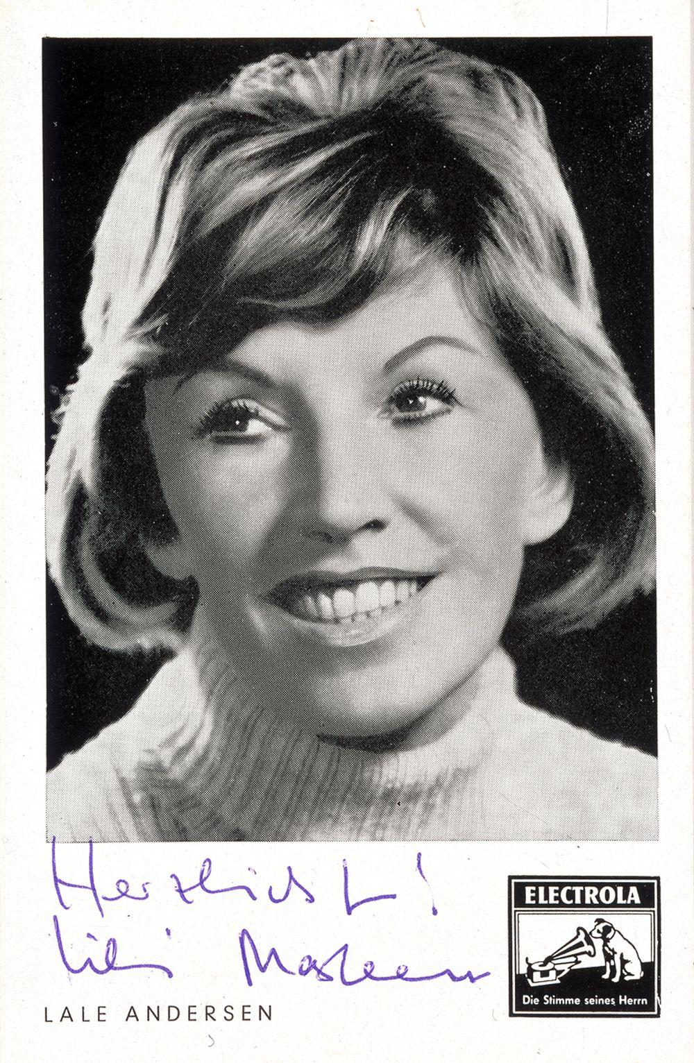 Autogrammkarte von Lale Andersen