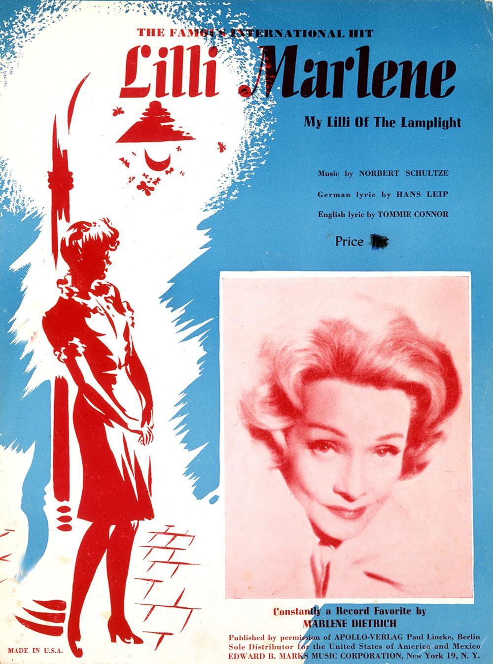 Titel eines amerikanischen Notenheftes mit Marlene Dietrich