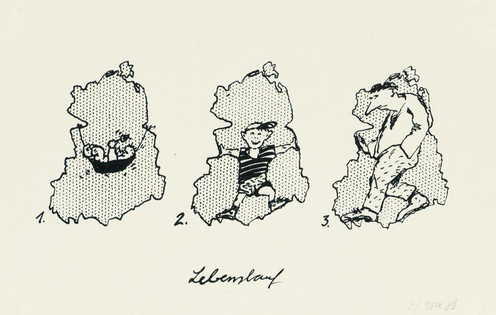 Karikatur 'Lebenslauf'