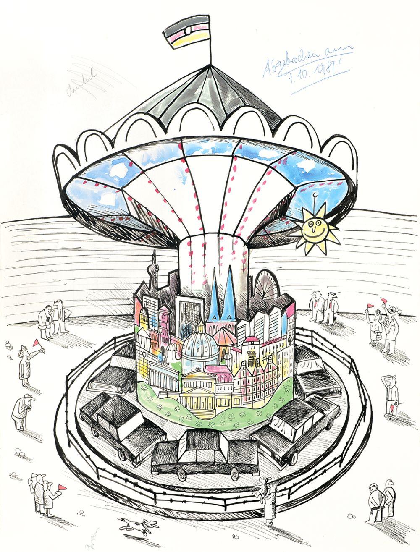 Karikatur 'Karussell'