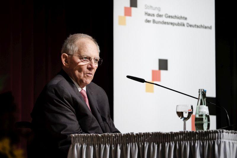 Wolfgang Schäuble am 29. Oktober 2019 bei einer Rede im haus der Geschichte in Bonn