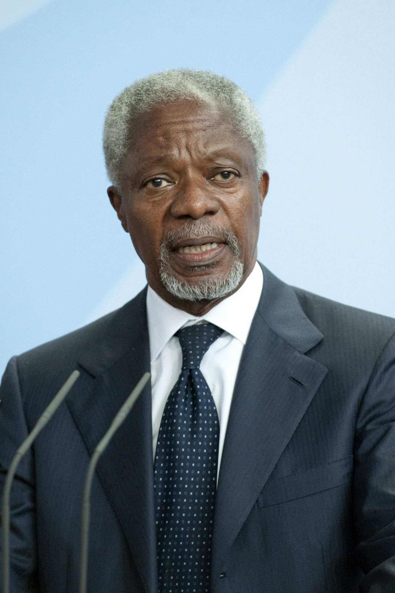 Porträtfoto Kofi Annan, 10. September 2010, Berlin.