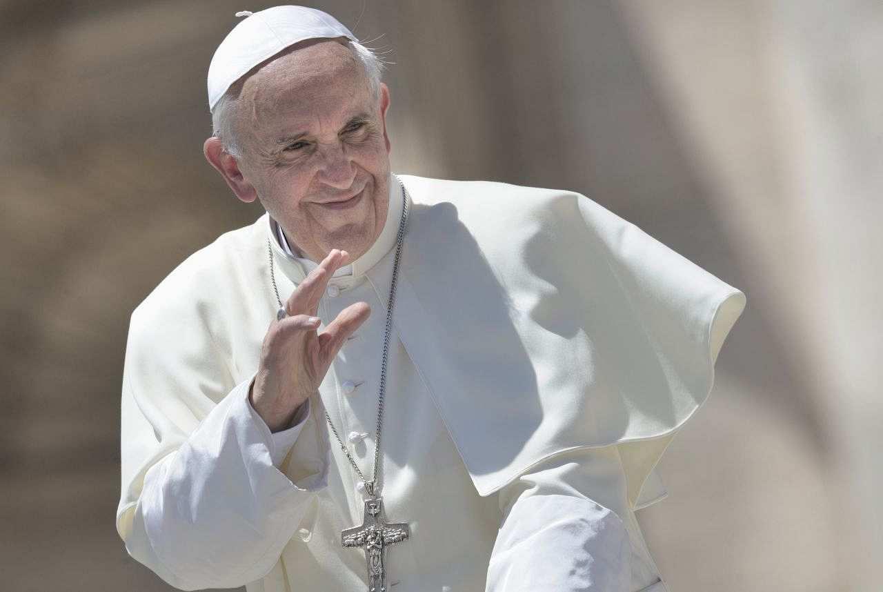 Papst Franziskus während seiner wöchentlichen Audienz, 2013.
