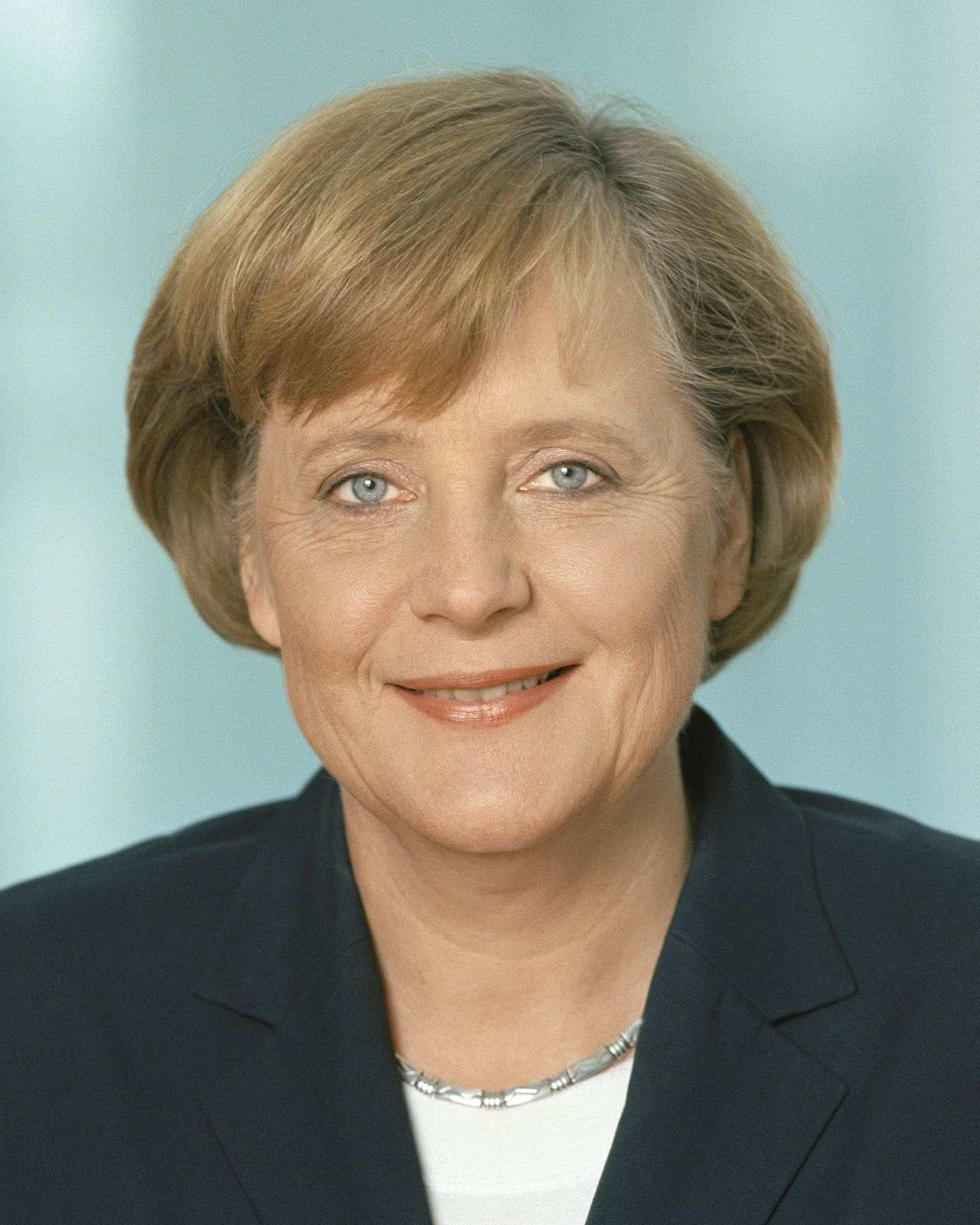 Offizielles Porträt von Angela Merkel, Bundeskanzlerin der Bundesrepublik ...