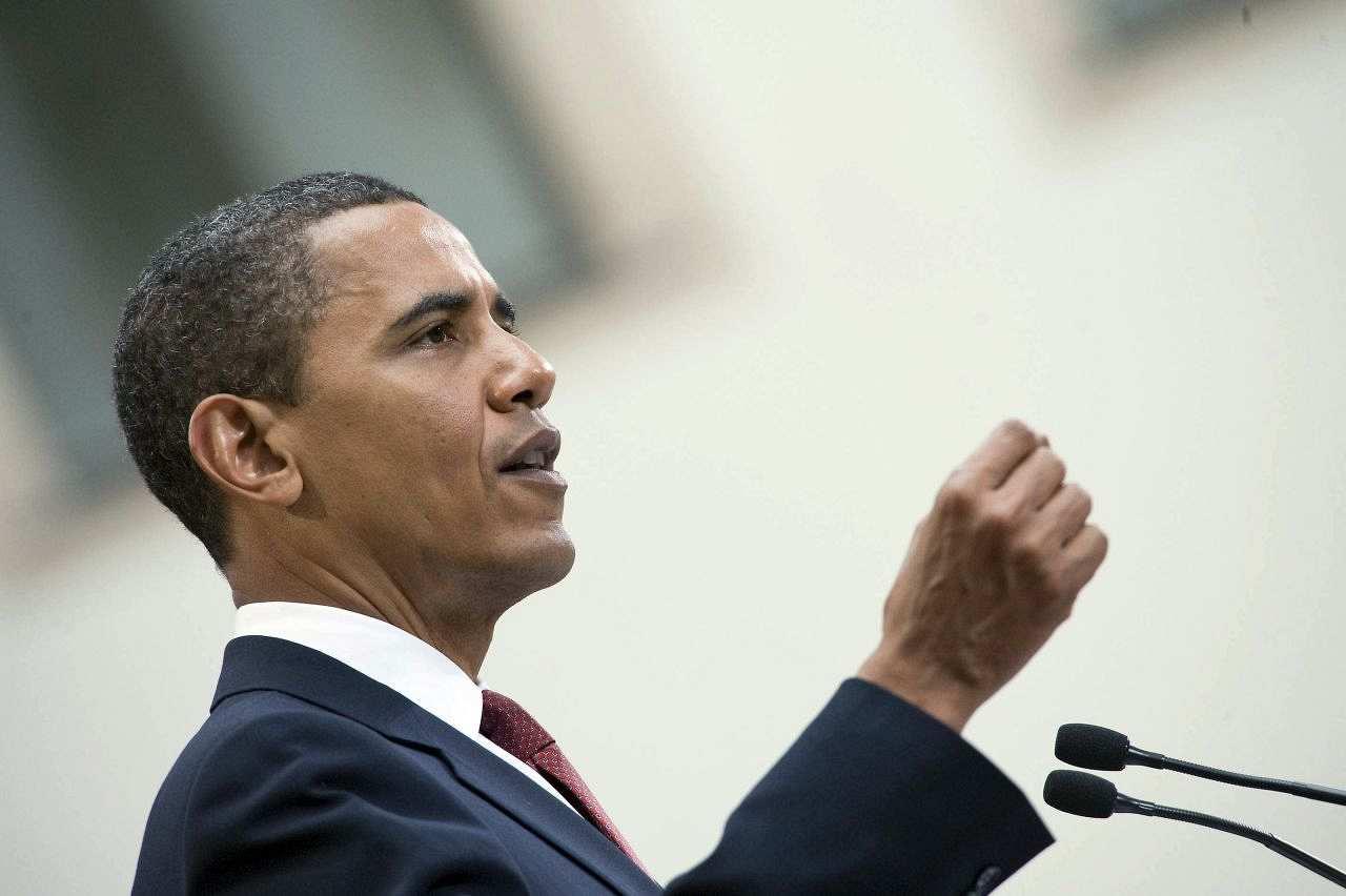 us prsident barack obama whrend eines pressestatements im dresdner residenzschloss 2009 - Barack Obama Lebenslauf
