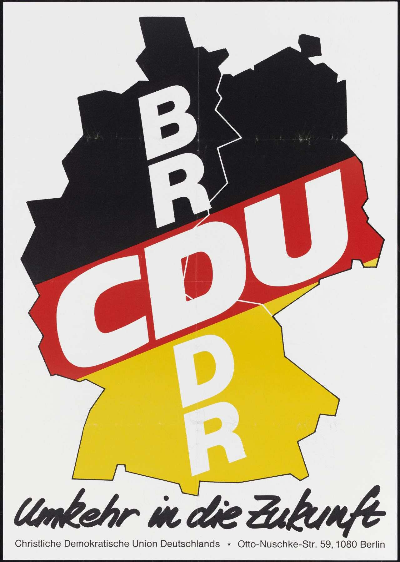 Wahlplakat Cdu 1991