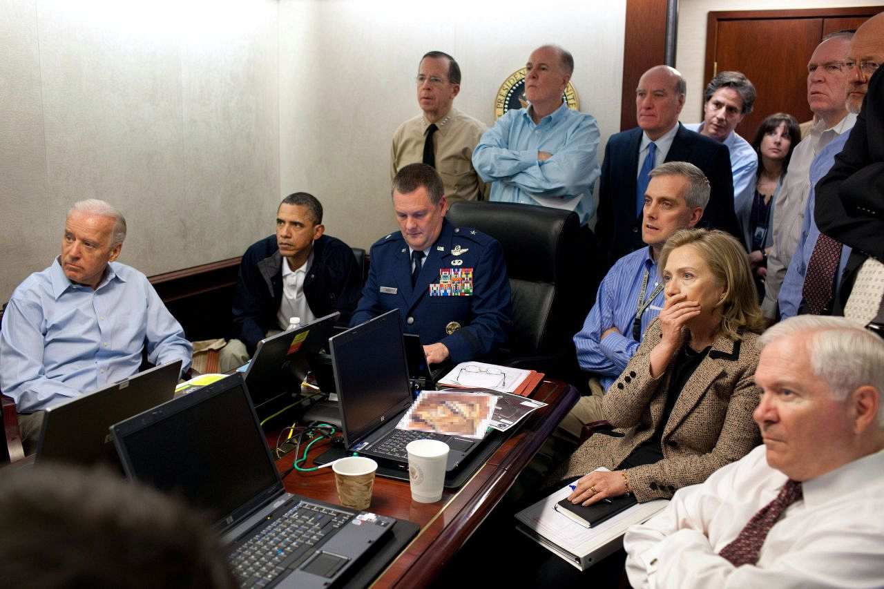 Situation Room, Obama mit Sicherheitsteam