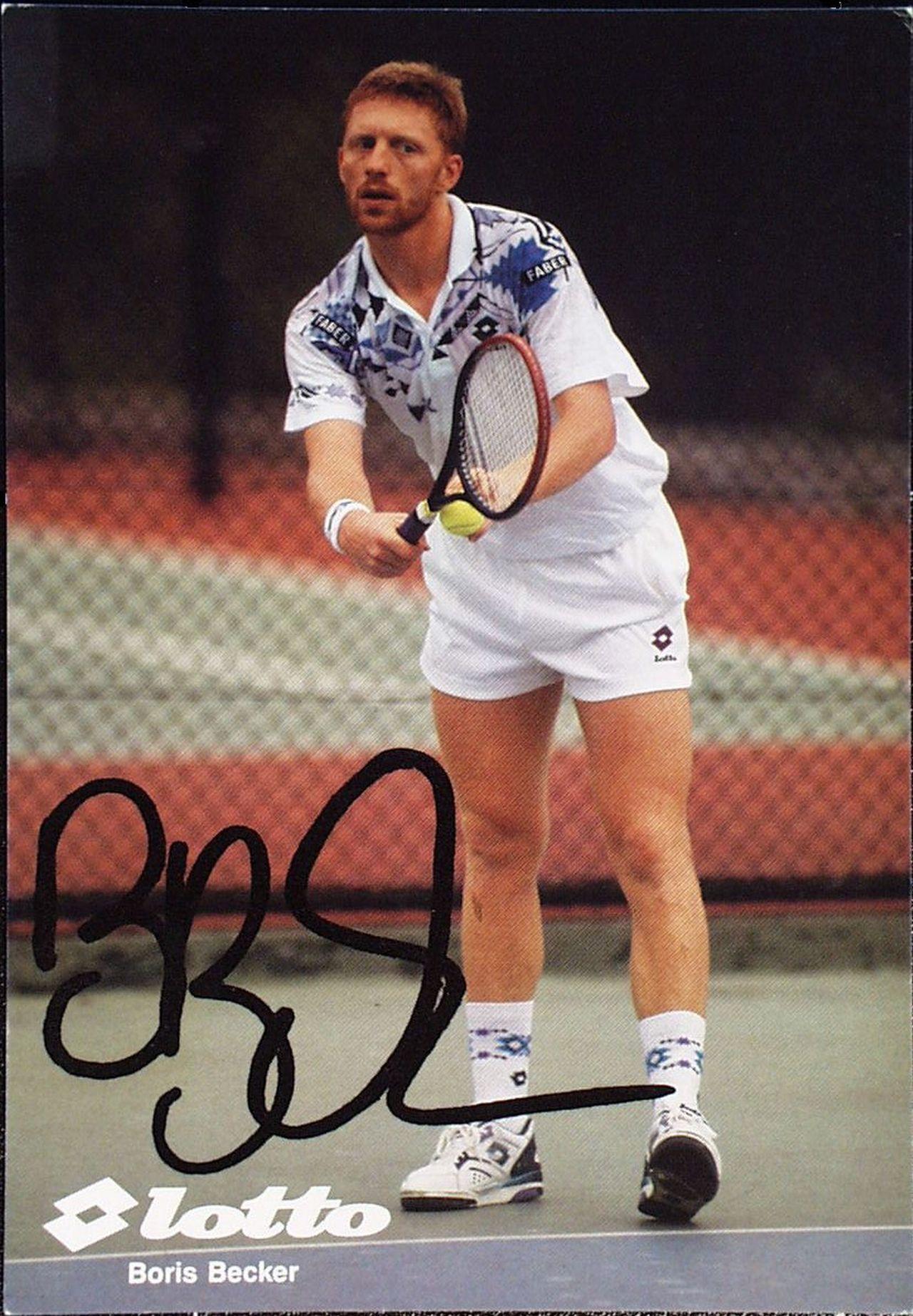 LeMO-Objekt: Autogrammkarte von Boris Becker